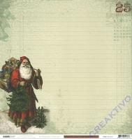 Scrapbooking Papier St. Nicholas - Papa Noel (Restbestand)