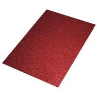Crepla Platte 2mm 30x40cm Glitter rot
