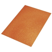 Crepla Platte 2mm 30x40cm Glitter orange