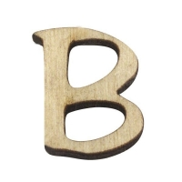 Holz-Buchstabe 2cm B