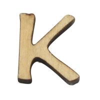 Holz-Buchstabe 2cm K