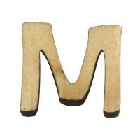 Holz-Buchstabe 2cm M