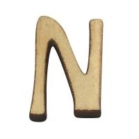 Holz-Buchstabe 2cm N