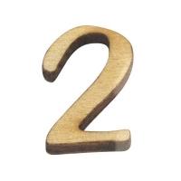 Holz-Zahl 2cm 2