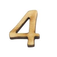 Holz-Zahl 2cm 4