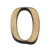 Holz-Zahl 2cm 0