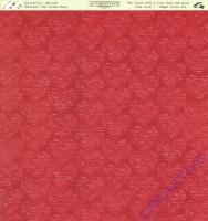 Scrapbooking Papier Smitten - Written (Restbestand)