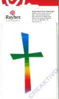 Rayher Wachsmotiv Kreuz Regenbogen