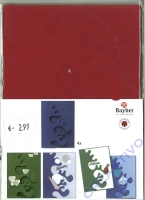 Karen Marie Passepartout-Karte Avantgarde 4 Stück bordeaux