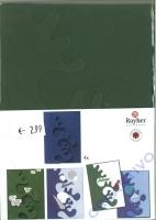 Karen Marie Passepartout-Karte Avantgarde 4 Stück piniengrün