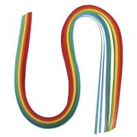 Papier für Quilling regenbogen 0,3cm