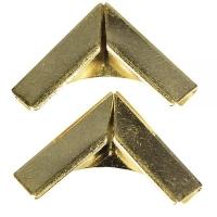 Metallecken für Bucheinbände 4 Stück gold
