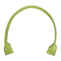 Kunstleder-Taschengriffe, hellgrün, 50,5x2,5cm