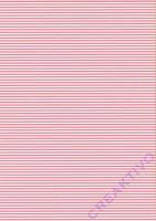 Streifen-Fotokarton DIN A4 rosa