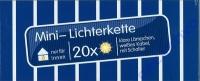Mini Lichterkette 20x weiß linear mit Schalter