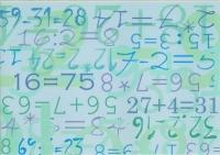 Transparentpapier A4 Zahlen (Restbestand)