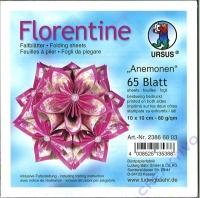 Florentine Faltblätter Anemonen 10x10cm 65 Blatt lila