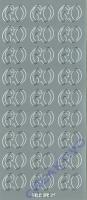 Stickerbogen 60 23x10cm silber