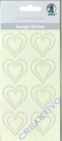 Design-Sticker Herzen cremeweiß