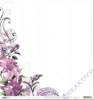 Scrapbooking Papier Violet Crush - Mallow (Restbestand)