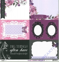 Scrapbooking Papier Violet Crush - Wall Flower (Restbestand)