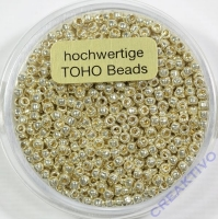 Pracht Toho-Beads 2,2mm metallic silber