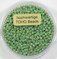 Pracht Toho-Beads 2,2mm metallic hellgrün