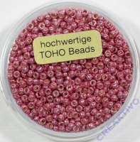 Pracht Toho-Beads 2,2mm metallic rosa