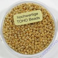 Pracht Toho-Beads 2,2mm metallic gold