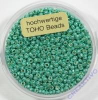 Pracht Toho-Beads 2,2mm metallic grün (Restbestand)