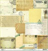 Scrapbooking Papier Telegraph Road - Memo (Restbestand)