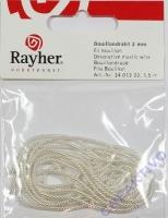 Rayher Bouillondraht 2mm silber