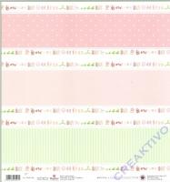 Scrapbooking Papier Baby pink (Restbestand)