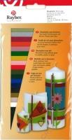 Rayher Wachsfolie, 18 Farben sortiert, 10x5 cm