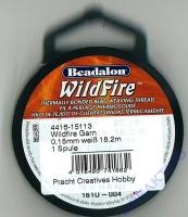 Perlenwebfaden Wild Fire Wildfire weiß ø 0,15 mm 18,2m