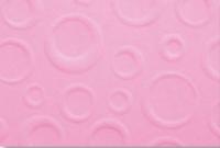 Prägekarton Bubbles 220g/qm DinA4 rosa (Restbestand)