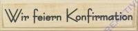Knorr Stempel Wir feiern Konfirmation