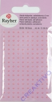 Plastik-Halbperlen selbstklebend 2mm 160 Stück rosé