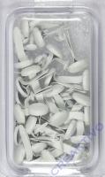Rayher Brads rund 4+8 mm 75 Stück weiß
