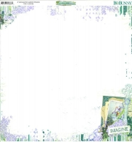 Scrapbooking Papier Enchanted Garden - Imagine (Restbestand)