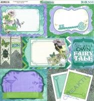 Scrapbooking Papier Enchanted Garden - Pixies (Restbestand)