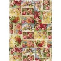 DecoMaché Papier Motiv 71 - Vintage Roses