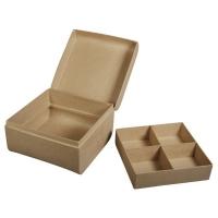 Pappm. Box m. Einsatz FSC Recycled 100%, 16x16x10cm