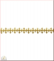 Rayher Wachsborte, 24x1,5 cm, gold, 1 Stück