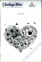 IndigoBlu Stempel A6 - Love is
