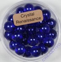 Crystal Renaissance Perlen 8mm dunkelblau