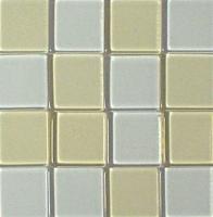 Acryl-Mosaik, 1x1 cm, transparent, mondstein