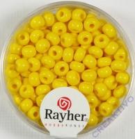 Indianerperlen, 4,5 mm ø gelb