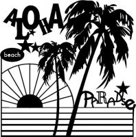 Marabu Silhouette-Schablone 30x30cm Aloha Paradise (Restbestand)