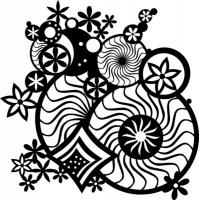 Marabu Silhouette-Schablone 30x30cm Fantasy Ornament (Restbestand)